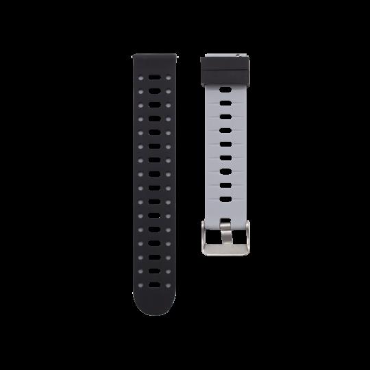 Silikonski pašček V15 (20mm) - sivo črn