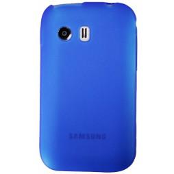 Samsung Galaxy Y - Gumiran ovitek (TPU) - modro-prosojen mat