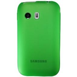Samsung Galaxy Y - Gumiran ovitek (TPU) - zeleno-prosojen mat