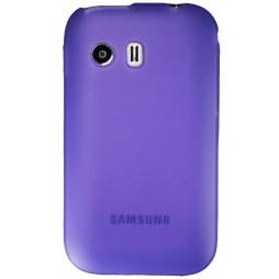 Samsung Galaxy Y - Gumiran ovitek (TPU) - vijolično-prosojen mat
