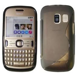 Nokia Asha 302 - Gumiran ovitek (TPU) - sivo-prosojen SLine