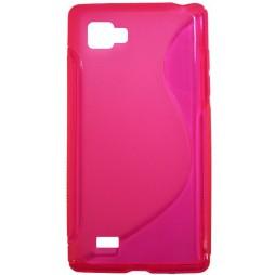 LG Optimus 4X HD - Gumiran ovitek (TPU) - roza-prosojen SLine