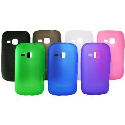 Samsung Galaxy Mini 2 - Gumiran ovitek (TPU) - belo-prosojen mat