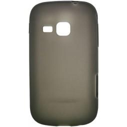 Samsung Galaxy Mini 2 - Gumiran ovitek (TPU) - sivo-prosojen mat