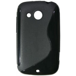 HTC Desire C - Gumiran ovitek (TPU) - črn SLine