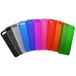 Apple iPhone 5/5S/SE - Gumiran ovitek (TPU) - oranžno-prosojen mat