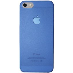 Apple iPhone 5/5S/SE - Okrasni pokrovček (16) - modro-prosojen