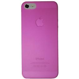Apple iPhone 5/5S/SE - Okrasni pokrovček (16) - roza-prosojen