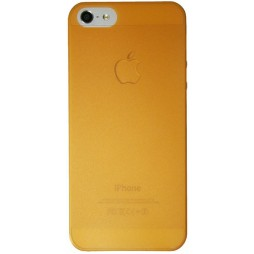 Apple iPhone 5/5S/SE - Okrasni pokrovček (16) - oranžno-prosojen