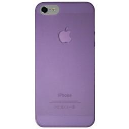 Apple iPhone 5/5S/SE - Okrasni pokrovček (16) - vijolično-prosojen