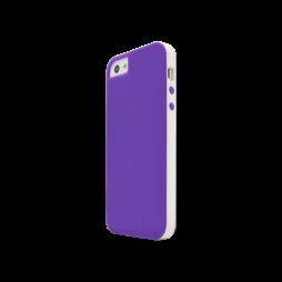 Apple iPhone 5/5S/SE - Gumiran ovitek (17) - vijolično-prosojen