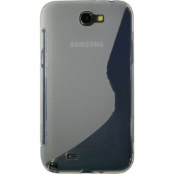 Samsung Galaxy Note 2 - Gumiran ovitek (TPU) - belo-prosojen SLine