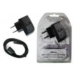 Hišni polnilnik, (1A) z MicroUSB kablom (VTU050)