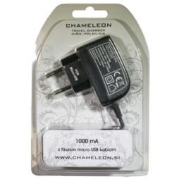 Hišni polnilnik, (1A) z MicroUSB kablom (VTC050)
