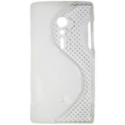 Sony Xperia ION - Gumiran ovitek (TPU) - belo-prosojen SLine