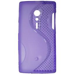 Sony Xperia ION - Gumiran ovitek (TPU) - vijolično-prosojen SLine