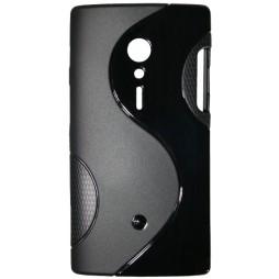 Sony Xperia ION - Gumiran ovitek (TPU) - črn SLine