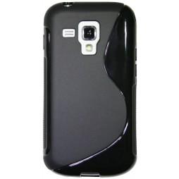 Samsung Galaxy Trend/S Duos - Gumiran ovitek (TPU) - črn SLine