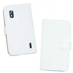 LG Nexus 4 - Preklopna torbica (WL) - bela