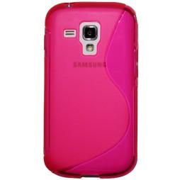 Samsung Galaxy Trend/S Duos - Gumiran ovitek (TPU) - roza-prosojen SLine