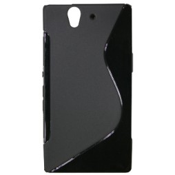 Sony Xperia Z yuga - Gumiran ovitek (TPU) - črn SLine