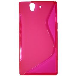 Sony Xperia Z yuga - Gumiran ovitek (TPU) - roza-prosojen SLine
