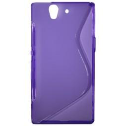Sony Xperia Z yuga - Gumiran ovitek (TPU) - vijolično-prosojen SLine