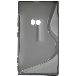 Nokia Lumia 920 - Gumiran ovitek (TPU) - sivo-prosojen SLine