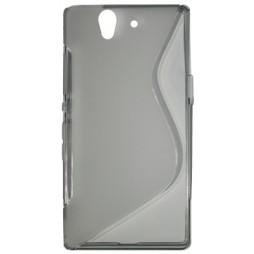 Sony Xperia Z yuga - Gumiran ovitek (TPU) - sivo-prosojen SLine