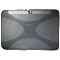 Samsung Galaxy Note 10.1 (N8000) - Gumiran ovitek (TPU) - sivo-prosojen XLine
