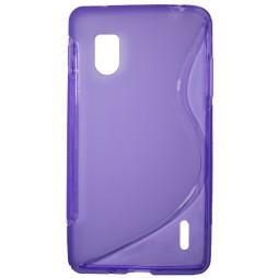 LG Optimus G - Gumiran ovitek (TPU) - vijolično-prosojen SLine