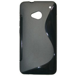 HTC One - Gumiran ovitek (TPU) - črn SLine