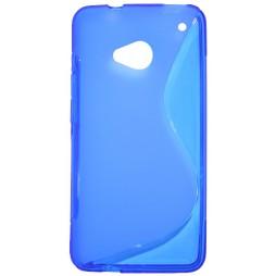 HTC One - Gumiran ovitek (TPU) - modro-prosojen SLine