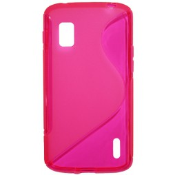 LG Nexus 4 - Gumiran ovitek (TPU) - roza-prosojen SLine