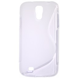 Samsung Galaxy S4 - Gumiran ovitek (TPU) - belo-prosojen SLine