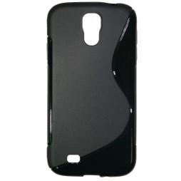 Samsung Galaxy S4 - Gumiran ovitek (TPU) - črn SLine