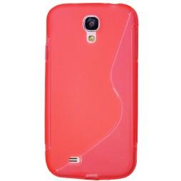 Samsung Galaxy S4 - Gumiran ovitek (TPU) - oranžno-prosojen SLine