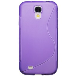 Samsung Galaxy S4 - Gumiran ovitek (TPU) - vijolično-prosojen SLine