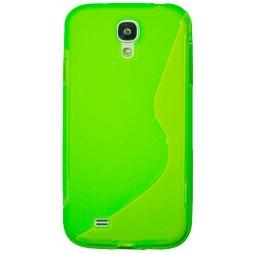 Samsung Galaxy S4 - Gumiran ovitek (TPU) - zeleno-prosojen SLine