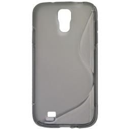 Samsung Galaxy S4 - Gumiran ovitek (TPU) - sivo-prosojen SLine