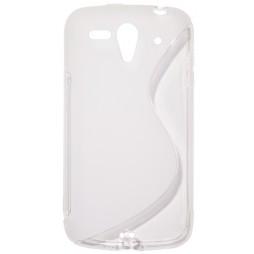 Huawei Ascend G300 - Gumiran ovitek (TPU) - belo-prosojen