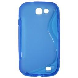 Samsung Galaxy Express - Gumiran ovitek (TPU) - modro-prosojen SLine