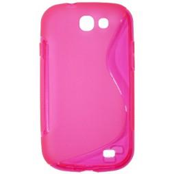 Samsung Galaxy Express - Gumiran ovitek (TPU) - roza-prosojen SLine