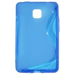 LG Optimus L3 II - Gumiran ovitek (TPU) - modro-prosojen SLine