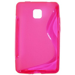 LG Optimus L3 II - Gumiran ovitek (TPU) - roza-prosojen SLine