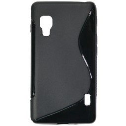 LG Optimus L5 II - Gumiran ovitek (TPU) - črn SLine