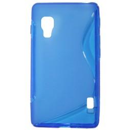 LG Optimus L5 II - Gumiran ovitek (TPU) - modro-prosojen SLine