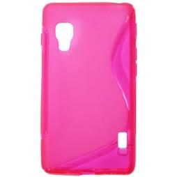 LG Optimus L5 II - Gumiran ovitek (TPU) - roza-prosojen SLine