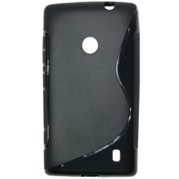 Nokia Lumia 520 - Gumiran ovitek (TPU) - črn SLine