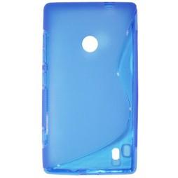 Nokia Lumia 520 - Gumiran ovitek (TPU) - modro-prosojen SLine